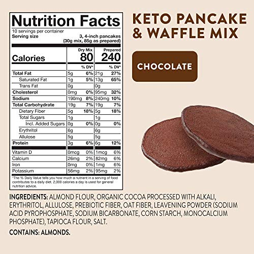 HighKey Snacks Keto Food Pancake Mix - Chocolate - Low Carb & Gluten Free Foods - Protein Breakfast Products - Paleo Pancakes - Diabetic & Ketogenic Diet Friendly Baking Snack 5