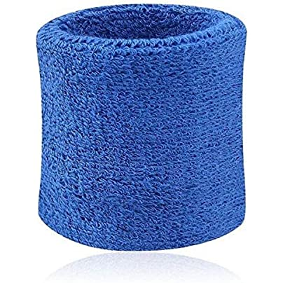 Sweatbands Wristband Tennis Squash Badminton Gym Football Soft Wrist Bands Pair Cotton Fiber Sports Wrist Support Brace Wrap Estimated Price £8.29 -