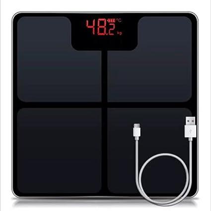 Pesaje electrónico preciso para pesaje Inteligente para Adultos Escala Corporal Que Mide la Grasa para Perder