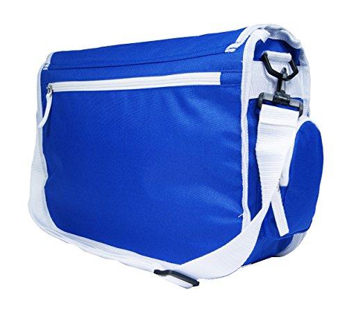 Para hombre mujeres señoras Unión Jack Diseño de flores/lisa cross-body Messenger bolsa de envío escuela Universidad Trabajo Bolsa de hombro azul