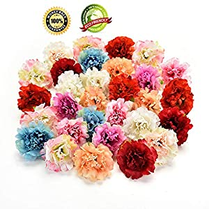 Silk Flowers in Bulk Wholesale Silk Flower Heads Wedding Artificial Flowers Birthday Party Decorative Faux Gifts Flower DIY Accessories 30Pcs/Lot 4.5cm (Multicolor) 1
