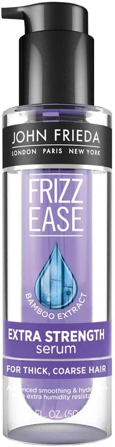 John Frieda 11766 Frizz Ease Extra Strength Serum, 1.69 Ounce Nourishing Treatment for Thick, Coarse Hair, Featuring Bamboo Extract and Provides Salon-caliber Smoothing: Garden & Outdoor