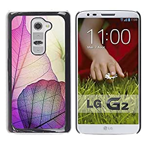iKiki Tech / Estuche rígido - Autumn Fall Purple Nature - LG G2 D800 D802 D802TA D803 VS980 LS980