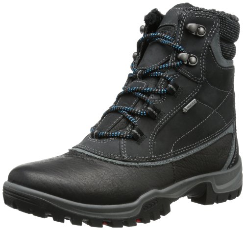 Ecco Xpedition III Moon Rock/Warm Grey Ol S/O 811143 - Botas de cuero para mujer, color negro, talla 36 Negro (Schwarz (BLACK/TITANIUM/BLACK))