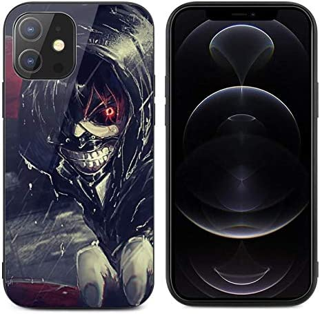 Anime Design Case for iPhone 12 Mini,iPhone 12 Series Tempered Glass Protection Cover TPU Anime iPhone Case for iPhone 12 Mini (Tokyo Ghoul Japanese Anime)