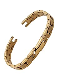 MSTRE JG16 Women Stainless Steel Watch Band For Tissot 1853/Flamingo t003 Wrist Watches (8mm, gold)