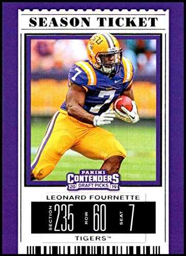 (2019 Panini Contenders Draft Tickets Season Ticket #62 Leonard Fournette NM-MT LSU Tigers Officially Licensed NCAA Collegiate Football Trading Card)