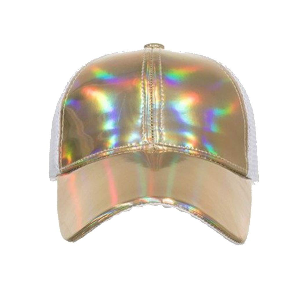 Sombrero de Las señoras Retro Calle PU luz láser Gorra de béisbol ...