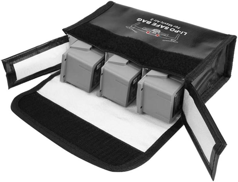 for 3 Batteries Battery Safe Bag Case for DJI Mavic Air 2 Explosion Fire Proof Lipo Battery Safe Protective Storage Bag