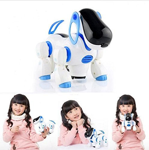 Charming JCare Clever Digital Strolling Mild Sound Pet Good Cute Robotic Canine With Mild Music Shaking Head Wake Tail Humorous Kids Toys Pet Child Associate Reward Beautiful Toy for Kids Child  Critiques