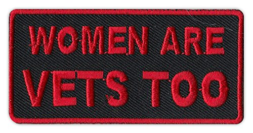 (Motorcycle Biker Jacket/Vest Embroidered Patch - Women Are Vets Too - Veterans, Support, Military )