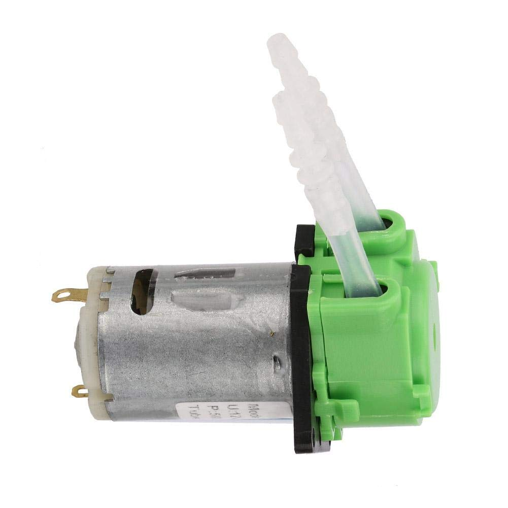 Fine Chemical Analysis 10 Ml//Min -90 Ml//Min Green Small Peristaltic Dosing Pump Pharmaceutical 12V Peristaltic Pump Used in The Field of Biochemical
