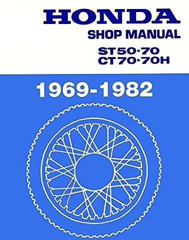 Honda CT70, CT 70, ST50, ST 50, 1969-1982 Repair Service Manual CD/DVD/PDF (Macintosh Repair)