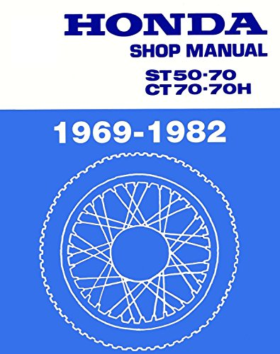 Price comparison product image Honda CT70, CT 70, ST50, ST 50, 1969-1982 Repair Service Manual CD/DVD/PDF