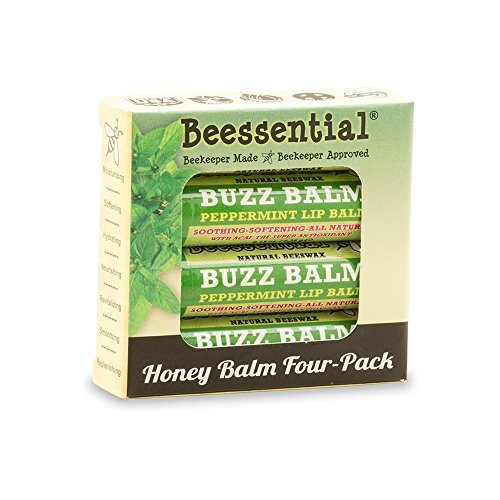 Beessential Peppermint & Honey Lip Balm 4-Pack by Beessential