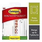 Command Clear Variety Kit, Kit pequeño para colgar cuadros, 14 Piece Kit, Blanco