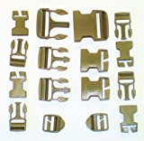 NEW 16 Piece Molle Ilbe Buckle Repair Set Kit DCU Desert Coyote Tan