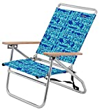 JGR Copa 3-Position Sealife Beach Chair One Size Blue
