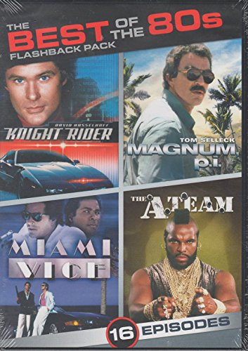 Best of the 80s Flashback Pack 16 Episodes: Knight Rider / Magnum P.I. / Miami Vice / The A-Team