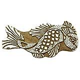 fish printing - Indian Wood Stamps Fish Stamp Handcarved Printing Block Textile Stamp