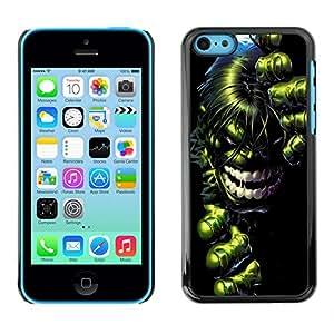 iPhone 5C , JackGot - Impreso colorido protector duro espalda Funda piel de Shell (Green Giant Super Hero)