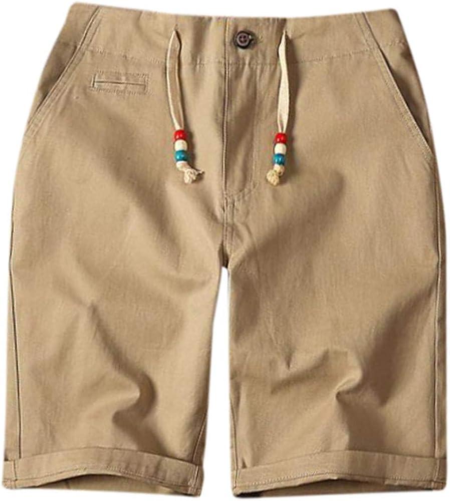 YEBIRAL Pantalones Cortos Hombre, Verano Playa con cordón con ...