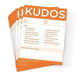 Kudos for Work - set of 10 Note Pads (Orange)