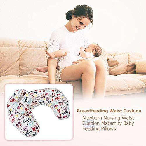 Enfermer/ía en forma de U Almohada Apoyo a la Lactancia suave de algod/ón de maternidad linda accesorios de la cintura Coj/ín de dormir para beb/és de la sala