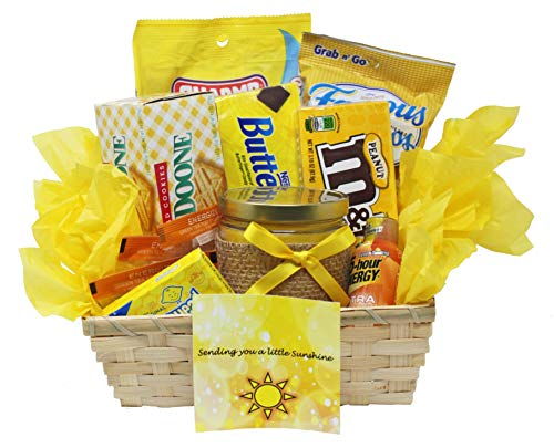 Get Well Soon | Yellow Themed Sunshine Basket | Empathy Gift | Relax and Unwind ()