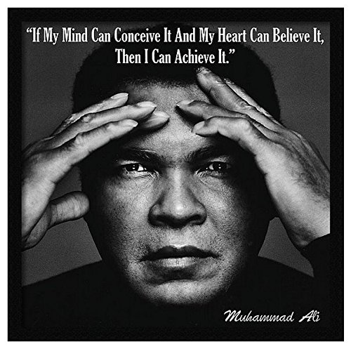 Ali Photo (Framed Inspirational Famous Quote Photo Muhammad Ali 8x8)