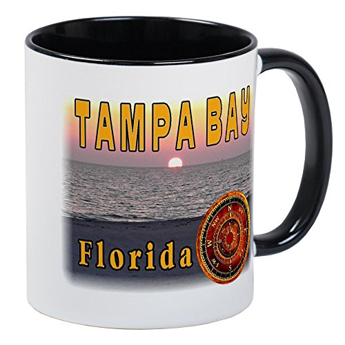 Sunset Tampa Bay - CafePress Tampa Bay Florida Compass Ros Mug Unique Coffee Mug, Coffee Cup