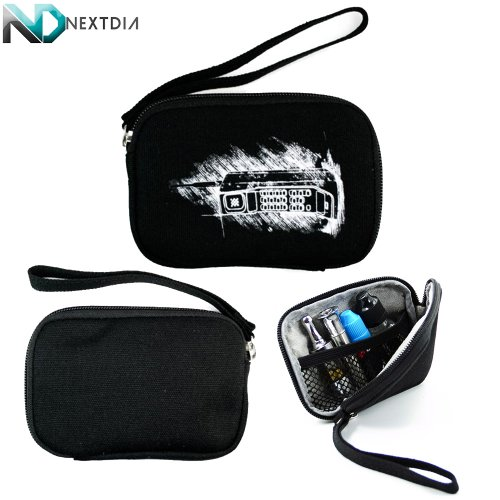Portable Thin Vape Case suitable for Ego 2 Pen T1100 Mah Glass Globe wax oil vaporizer G-Pen ego BHO |Ice Black Retro Brick Cellphone Print| + Removable Hand Strap + NextDIA Cable Organizer (Vaporizer Pen Wax)