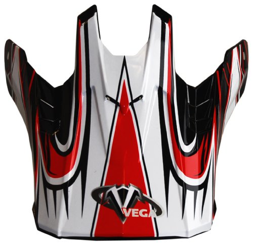 Vega NBX-Pro Off-Road Helmet Visor with Scorch Graphic (Red, One size/Adult)