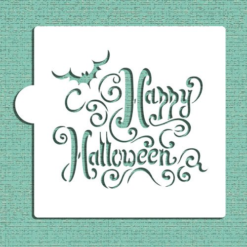 Happy Halloween Lettering Cookie and Craft Stencil CM071 by Designer ()