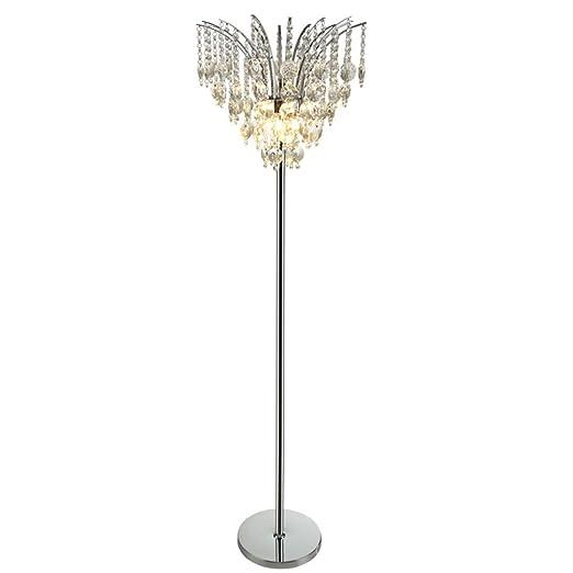 Lampara de pie Cristal, E14 * 3 Fuente de luz Sencillo y Moderno ...