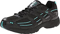 Ryka Women's Surge Walking Shoe (5, Black/Grey/Teal)