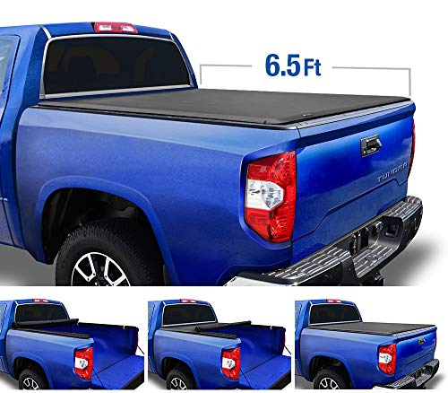 Tyger Auto T1 Roll Up Truck Tonneau Cover TG-BC1T9042 Works with 2014-2019 Toyota Tundra | Fleetside 6.5' Bed | for Models with or Without The Deckrail System