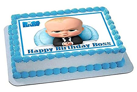 Amazon Com The Boss Baby Edible Cake Topper 7 5 X 10