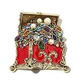 Heidi Daus Treasure Trove RED Enamel and Crystal Pin BEAUTIFUL YOU WILL LOVE IT!