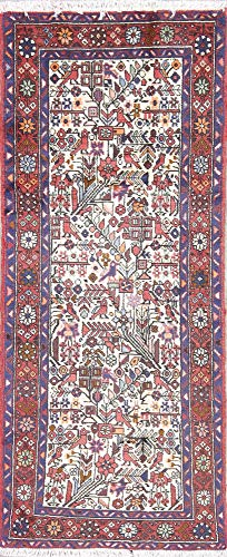 Rug Source One-of-A-Kind New Nahavand Tribal Handmade 2x6 Beige Wool Persian Runner Rug (6' 3