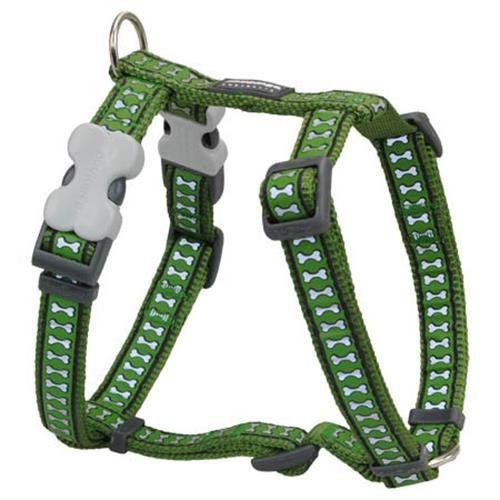 Red Dingo Reflective Dog Harness, X-Large, Green
