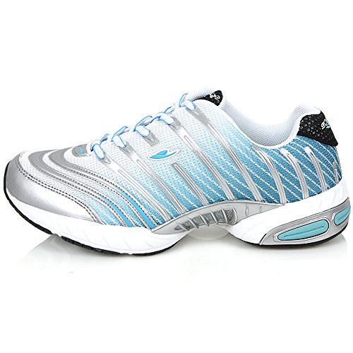Cheap New Athletic Sports Fashion Sneakers Mens Running Walking Trainer Lace up Shoes (6, Blue)