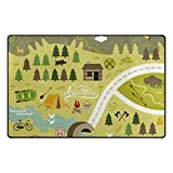 ColourLife Lightweight Non Slip Carpet Mats Area Soft Rugs Floor Mat Rug Decoration for Kids Room Living Room 60 x 39 inches Camping Outdoor Activities