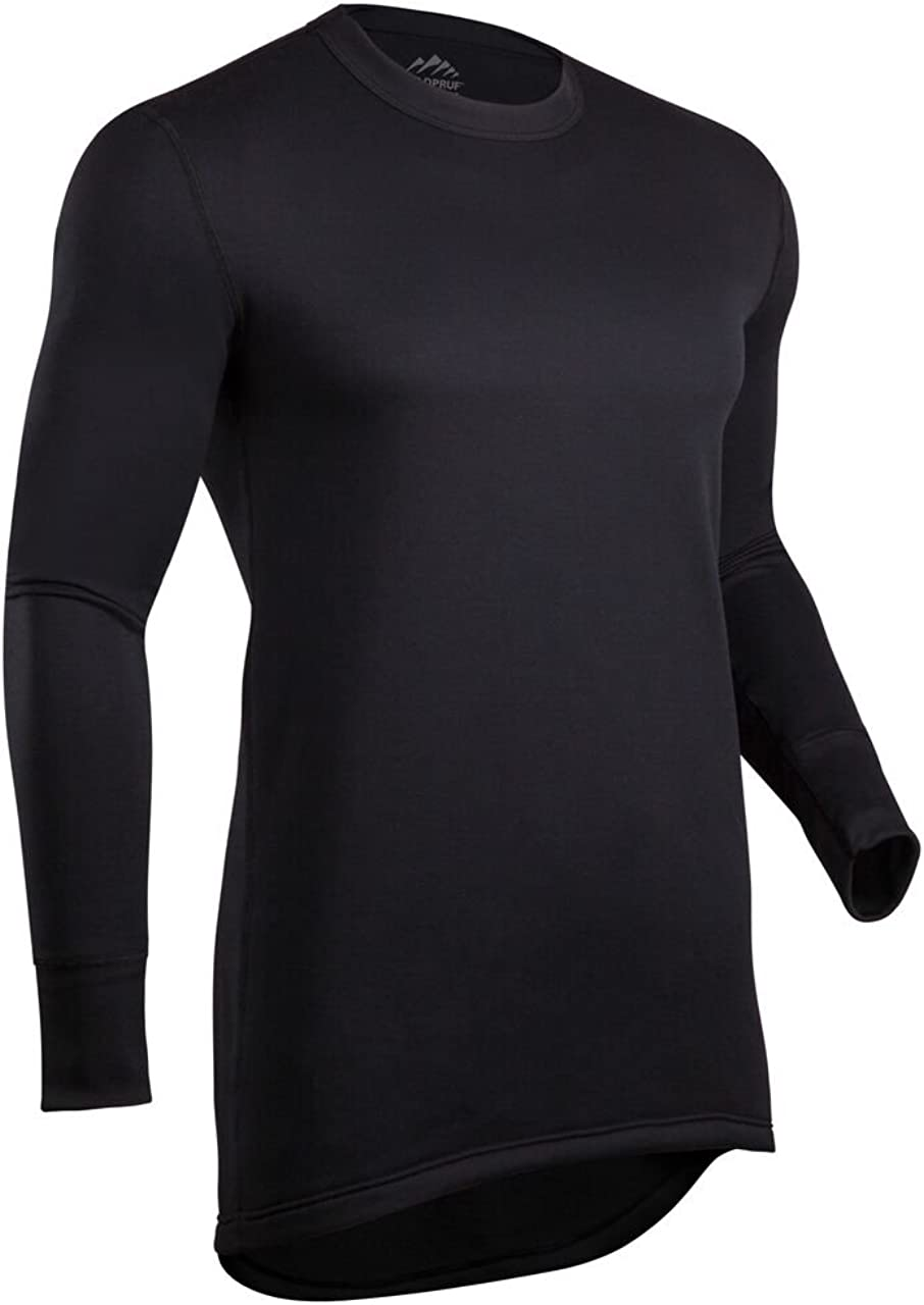 ColdPruf Men's Journey Performance Base Layer Long Sleeve Crew Neck Top, Black, XX-Large 86C2XBK