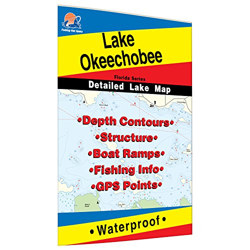 Okeechobee Fishing Map, Lake by Fishing Hot Spots