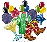 16 pc Western Line Dancing Fiesta Southwest Balloon Bouquet Party Decoration