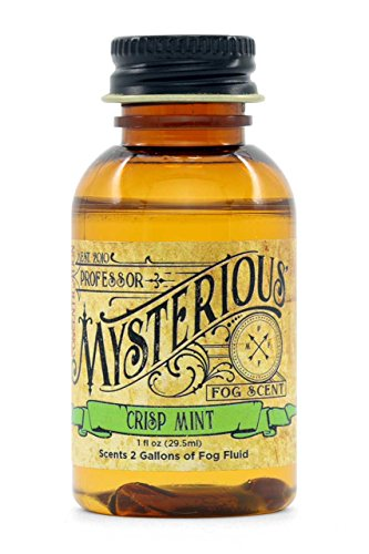 Queue Fluid - Professor Mysterious Crisp Mint Fog Machine Scent, ounce, 2x concentrate, treats 2 gallons