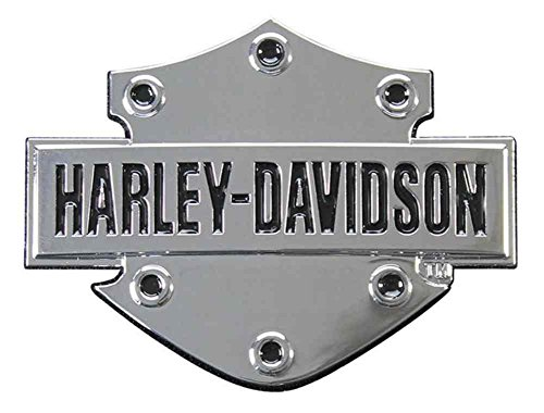 Harley-Davidson Bar & Shield 3D Chrome Decal, XS Size 2.5 x 1.75 inches (Harley Davidson Motorcycle Decals)