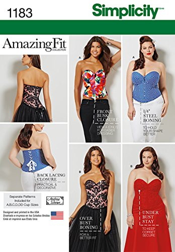Costumes Patterns Plus Size (Simplicity Patterns US1183BB Misses' and Plus Size Corsets, BB (20W-28W))