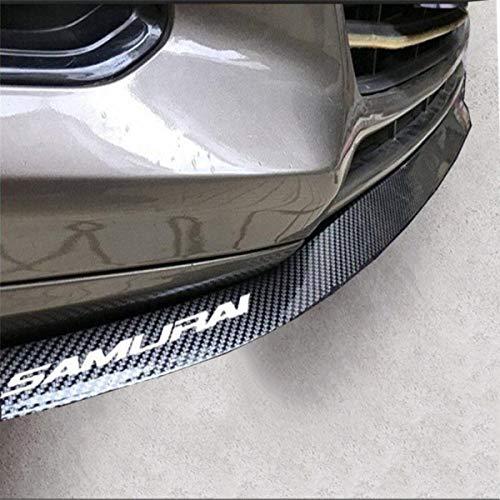 Audi 100 Type - HengJia Auto Parts Universal Fit carbon-fiber Car front bumper spoiler lip ?Splitter Side Skirt Roof Spoiler,100% waterproof protection (2.5 meters, black)